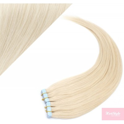 40cm Tape in Haare REMY - platin