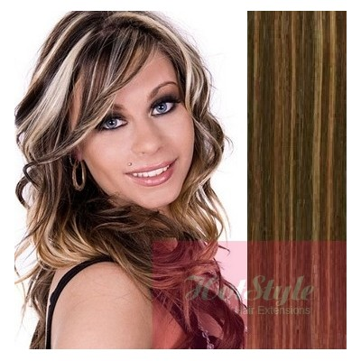 50cm Tape In Haare Remy Dunkle Strähnchen