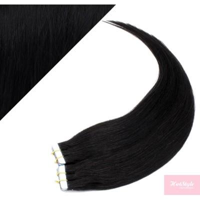 60cm Tape in Haare REMY - schwarz