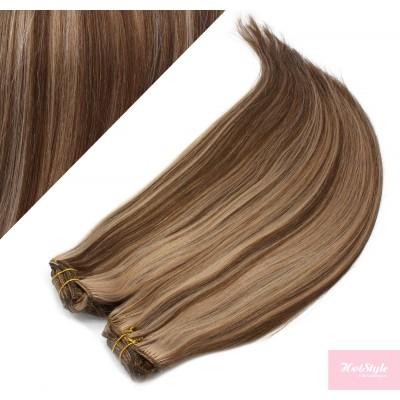 73 cm gerade REMY Clip In Deluxe Haare - dunkle Strähnchen