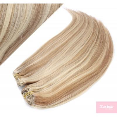 73 cm gerade REMY Clip In Deluxe Haare - helle Strähnchen