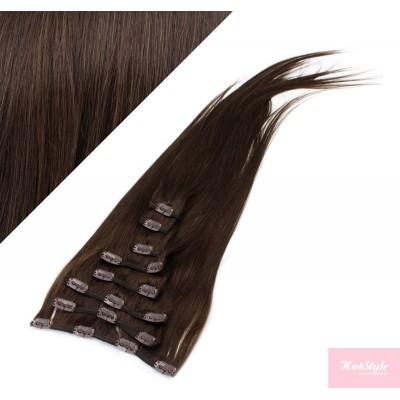 40cm REMY Clip In Haar - dunkelbraun