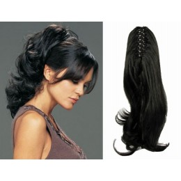 "Claw ponytail 24"" wavy - black"