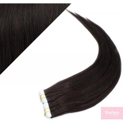 40cm Tape in Haare REMY - schwarz natürlich
