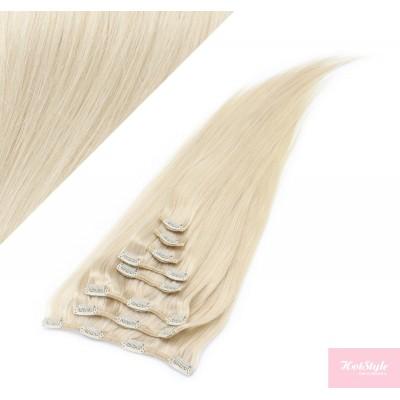 40cm REMY Clip In Haar - platin