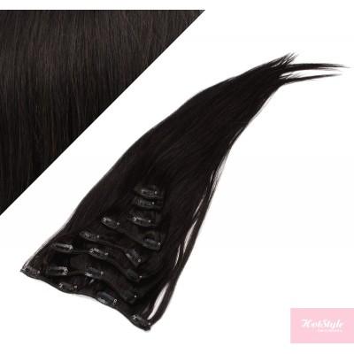 40cm REMY Clip In Haar - schwarz natürlich