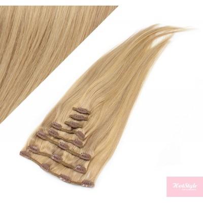 40cm REMY Clip In Haar - naturblond/hellblond
