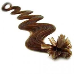 "16"" (40cm) Nail tip / U tip human 100% hair pre bonded extensions – black"