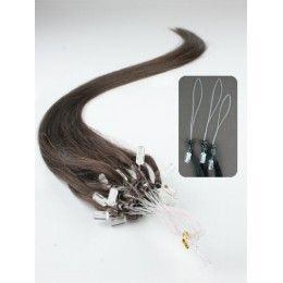 "15"" (40cm) Micro ring human hair extensions – dark brown"