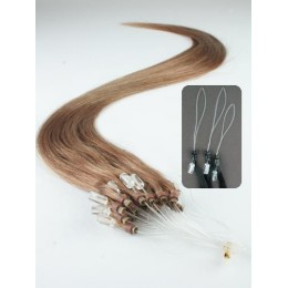 "15"" (40cm) Micro ring human hair extensions – light brown"