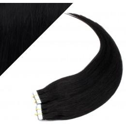 40cm Tape in Haare REMY - schwarz