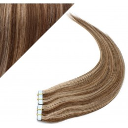 40cm Tape in Haare REMY - dunkle Strähnchen