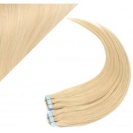 60cm Tape in Haare REMY - weißblond