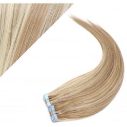60cm Tape in Haare REMY - helle Strähnchen