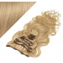50cm wellige REMY Clip In Haare - naturblond