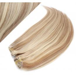 43 cm gerade REMY Clip In Deluxe Haare - helle Strähnchen