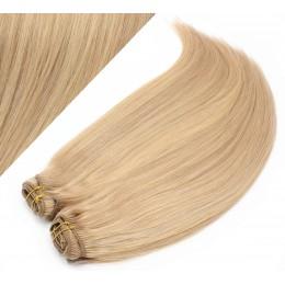 53 cm gerade REMY Clip In Deluxe Haare - naturblond/hellblond