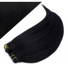 63 cm gerade REMY Clip In Deluxe Haare - schwarz