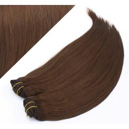 63 cm gerade REMY Clip In Deluxe Haare - mittelbraun