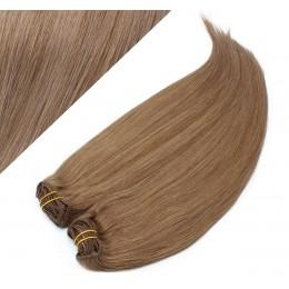 63 cm gerade REMY Clip In Deluxe Haare - hellbraun