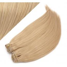 63 cm gerade REMY Clip In Deluxe Haare - naturblond