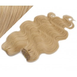 53 cm wellige REMY Clip In Deluxe Haare - naturblond