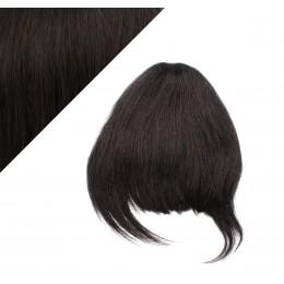 Clip-In Stirnfranse aus 100% Menschenhaar – schwarz natürlich