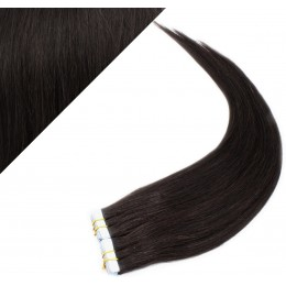 50cm Tape in Haare REMY - schwarz natürlich