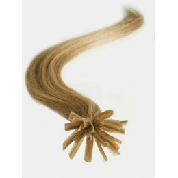 "16"" (40cm) Nail tip / U tip human hair pre bonded extensions – light brown"