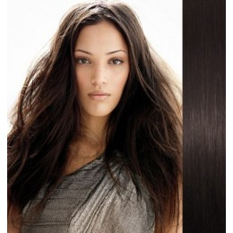 """28"""" (70cm) Clip in human REMY hair - natural black"""