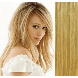 """15"""" (40cm) Clip in human REMY hair - light blonde/natural blonde"""