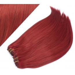43 cm gerade REMY Clip In Deluxe Haare - kupfer
