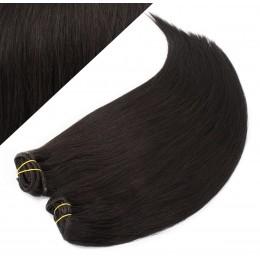 53 cm gerade REMY Clip In Deluxe Haare - schwarz natürlich