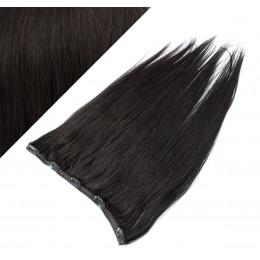 Gerade Remy Clip-In Haarteil, 53cm – schwarz natürlich