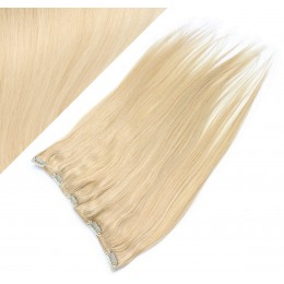 Gerade Remy Clip-In Haarteil, 53cm – weißblond