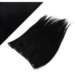 Gerade Remy Clip-In Haarteil, 63cm – schwarz