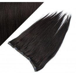 Gerade Remy Clip-In Haarteil, 63cm – schwarz natürlich