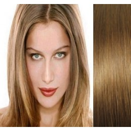 "24"" (60cm) Clip in human REMY hair - light brown"
