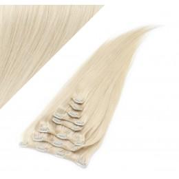 60cm REMY Clip In Haar - platin