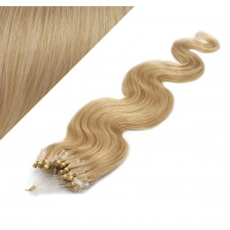 50cm Wellige Micro ring/easy loop haare REMY – naturblond