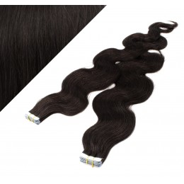 Wellige Tape in Haare 50cm - schwarz natürlich