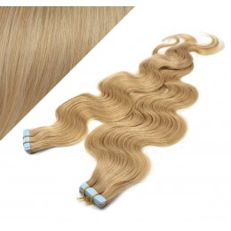 Wellige Tape in Haare 60cm - naturblond