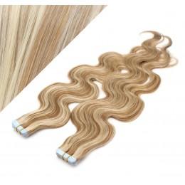 Wellige Tape in Haare 60cm - helle Strähnchen