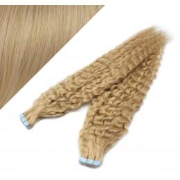 Lockige Tape in Haare 60cm - naturblond