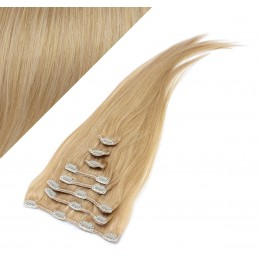43cm REMY Clip In Haar 100g - naturblond