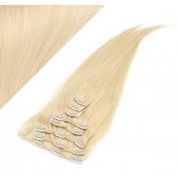 43cm REMY Clip In Haar 100g - weißblond