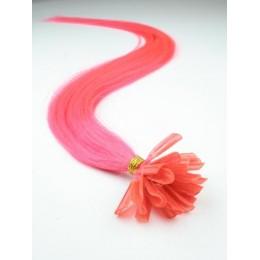 "16"" (40cm) Nail tip / U tip human hair pre bonded extensions – pink"